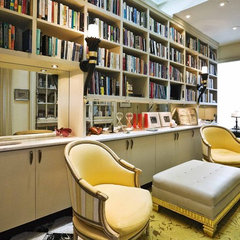 eclectic home office by Jerry Jacobs Design, Inc.