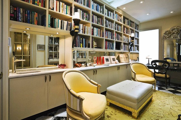 Traditional Home Office by Jerry Jacobs Design, Inc.