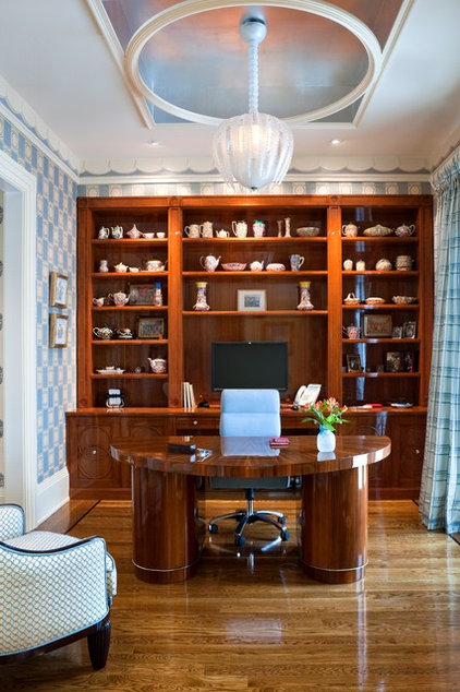 Eclectic Home Office by E. B. Mahoney Builders, Inc.