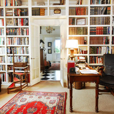 Traditional Home Office built-in bookcase wall