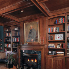 Traditional Home Office by Sawhill Kitchens