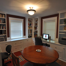 Traditional Home Office by Brave Custom Woodworking