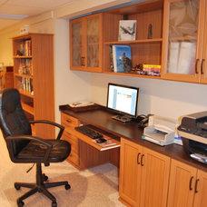 Contemporary Home Office by Stephanie Bonini