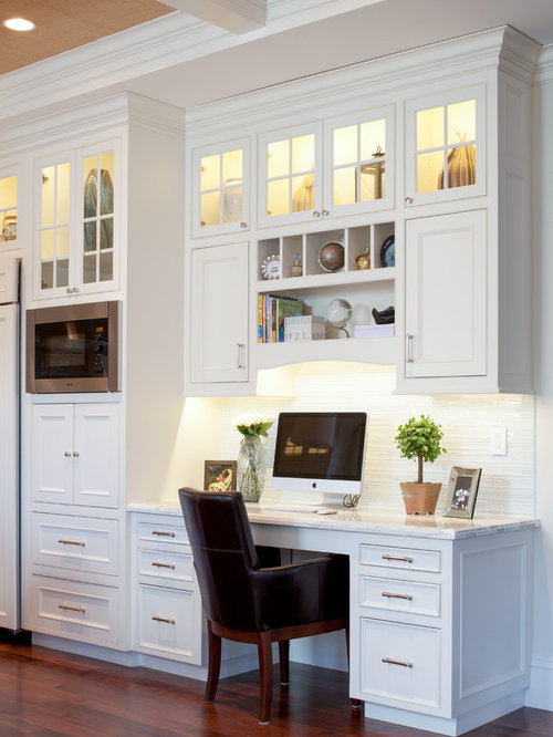 Kitchen desk area home design ideas pictures remodel and for Desk in kitchen ideas