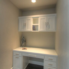 Transitional Home Office by Jordan Iverson Signature Homes