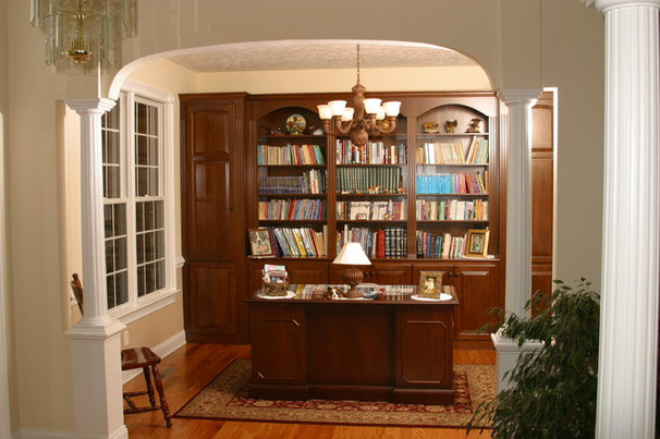 Traditional Home Office by Mill Cabinet Shop