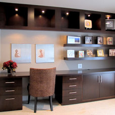 Contemporary Home Office by Metropolitan Woodworking