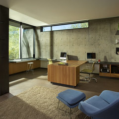 modern home office by the construction zone, ltd.