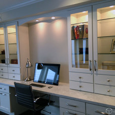 Craftsman Home Office by CliqStudios Cabinets