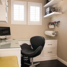 Transitional Home Office by Lulu Designs