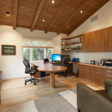 Mediterranean Home Office by Giffin & Crane General Contractors, Inc.
