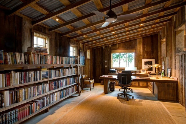 Rustic Home Office by Paul Kelley Architecture