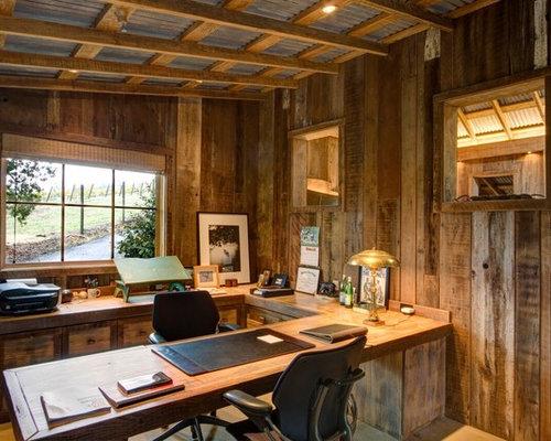 Rustic San Francisco Home Office Design Ideas Remodels