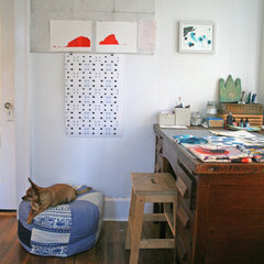 eclectic home office Callen Thompson's Art Studio