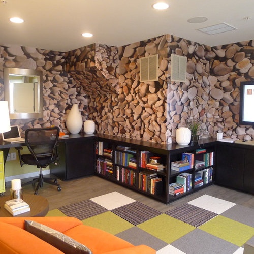 Wondrous Stone Wallpaper Ideas Pictures Remodel And Decor Largest Home Design Picture Inspirations Pitcheantrous