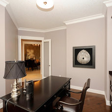 Traditional Home Office by Marie Hebson's interiorsBYDESIGN Inc.