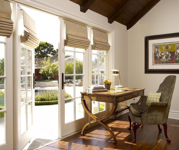 Traditional Home Office by Sarah Barnard Design