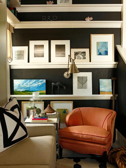 Foto e idee per studi studio al mare con pareti nere for Ufficio wall street