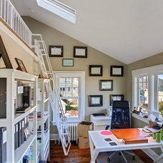 Eclectic Home Office by Blue Sound Construction, Inc.