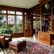 Traditional Home Office by Laurie Carron Architect, AIA I LEED GA