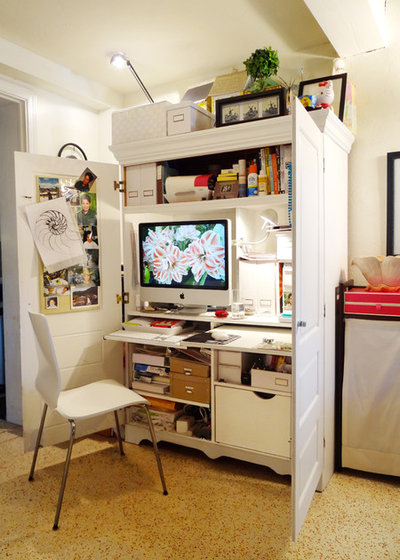 Eclectic Home Office by brownwilliam art + design