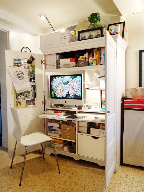 office armoire. eclectic home office idea in other armoire
