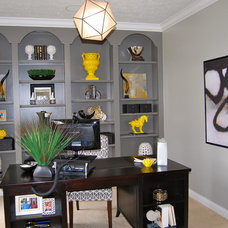 Contemporary Home Office by Shine Design