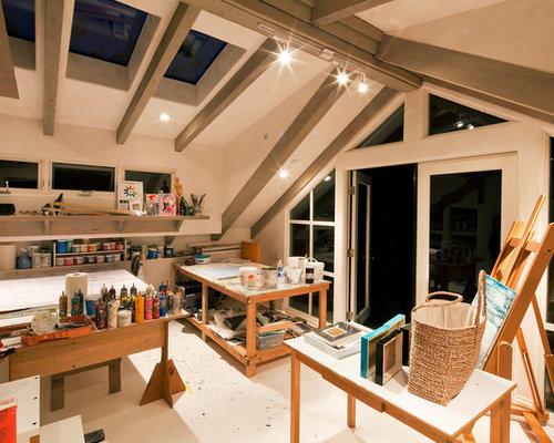 Art studio houzz for Art studio bedroom ideas