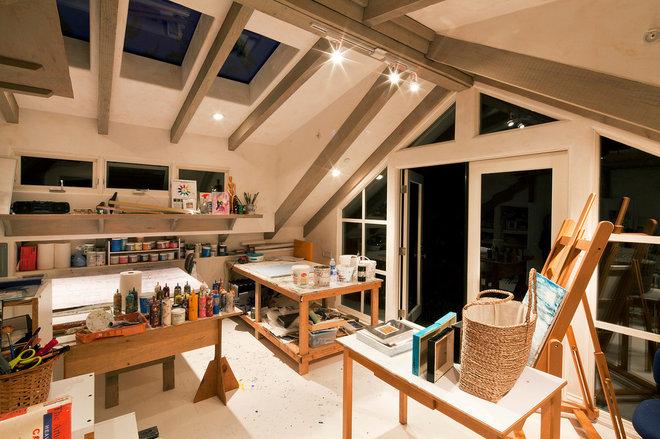 Contemporary Home Office by Lehman Design Studio