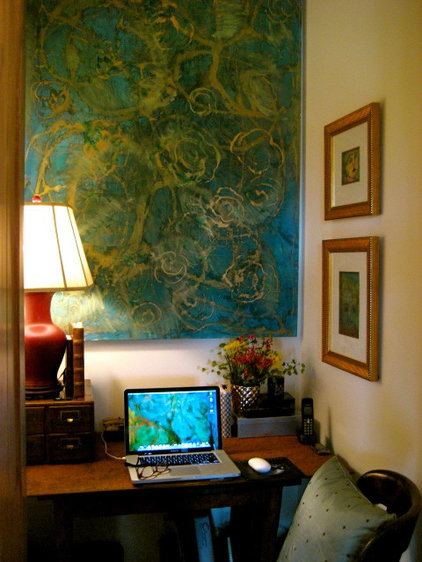 Eclectic Home Office by CAROLE MEYER