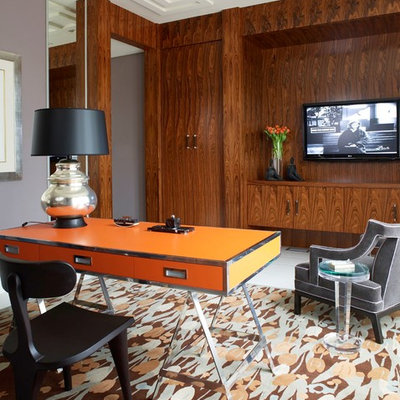 Inspiration for a contemporary freestanding desk home office remodel in Miami