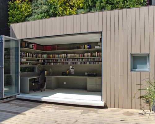 Outdoor office houzz for Outdoor office building