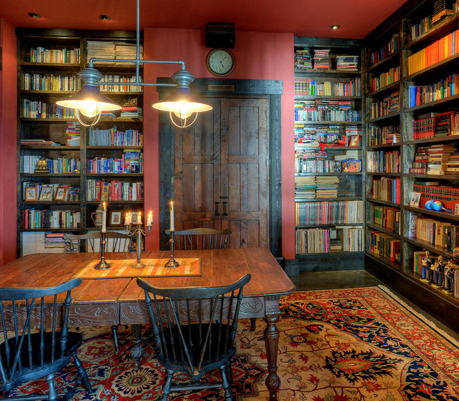 Rustic Home Office by Dan Nelson, Designs Northwest Architects