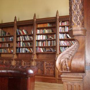 他の地域のヴィクトリアン調のおしゃれなホームオフィス・書斎の写真