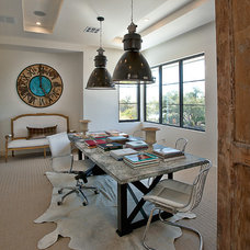 Contemporary Home Office by Glynis Wood Interiors