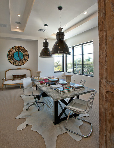 Transitional Home Office by Cornerstone Architects