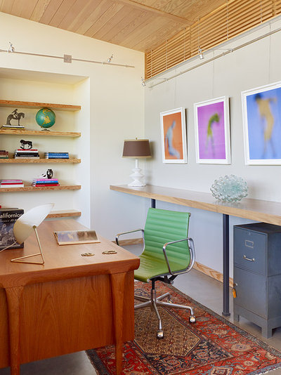 Contemporary Home Office by JayJeffers