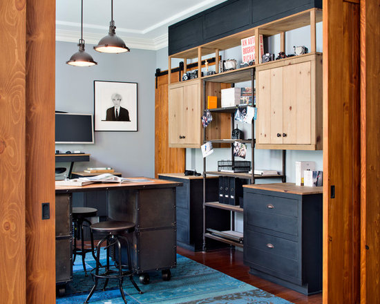 industrial chic home office design ideas, remodels & photos
