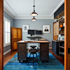 Industrial Home Office by Corine Maggio Natural Designs