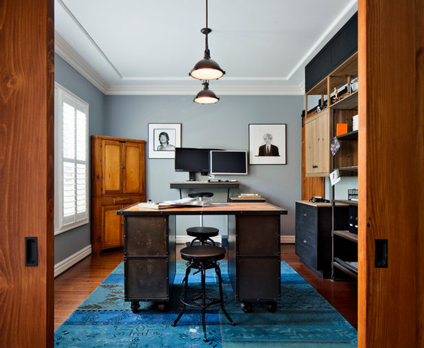 Industrial Home Office by CM Natural Designs