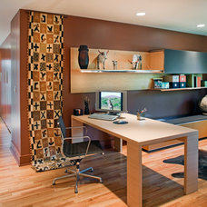 Contemporary Home Office by Steven Ginn Architects LLC