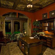 Mediterranean Home Office by Stadler Custom Homes