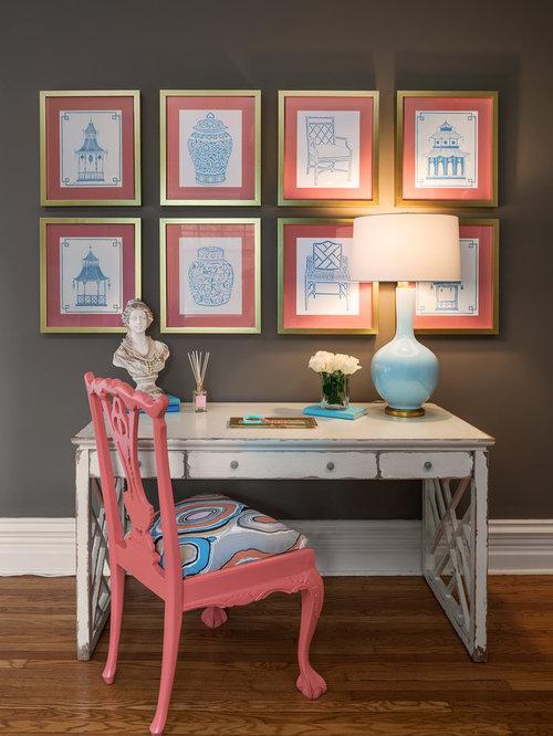 houzz transitional home office design ideas remodel. Black Bedroom Furniture Sets. Home Design Ideas