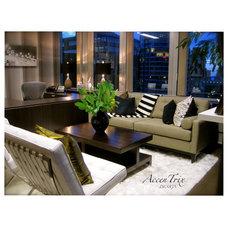 Modern Home Office by AccenTrix Design