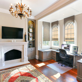 Inspiration for a timeless home office remodel in Charleston