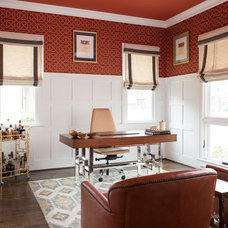 Transitional Home Office by Creekview Custom Homes