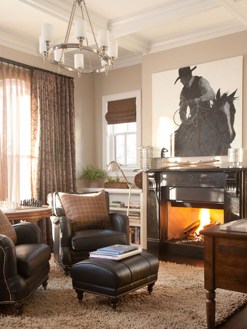 Western ranch style home houzz for Western ranch style homes