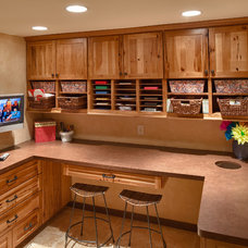 Transitional Home Office by Steve Silverman Imaging