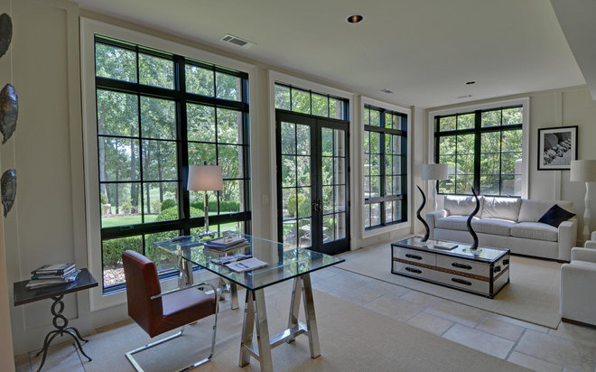 Contemporary Home Office by Envision Web