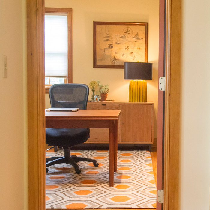 Chatham Home Office Modern Makeover (+ before pics)